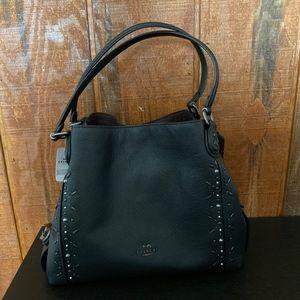 COACH Pebble Leather Edie 31 Rivet Shoulder Bag